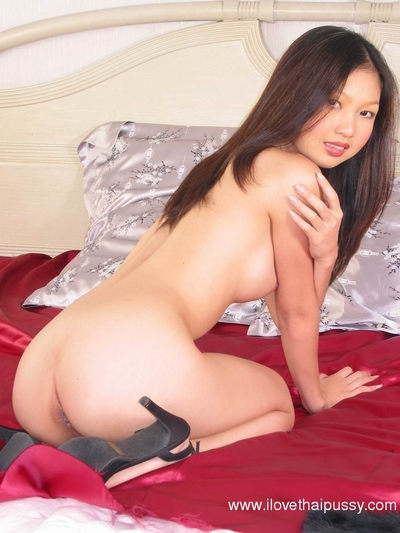 Sexually aroused dark hair Japanese infant showing off her sticky body and wanking
