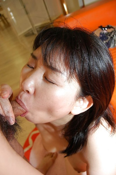 Japanese fatty Sumie Nagai sucks hawt weenie and receives her curly snatch fucked in group