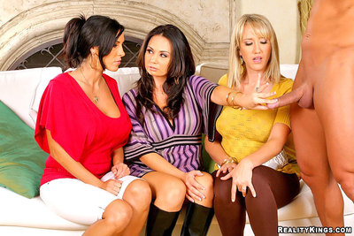 3 very moist wish leg moist milfs tutor eachother how to take in penis then receive owned raw by the sausage moist photos