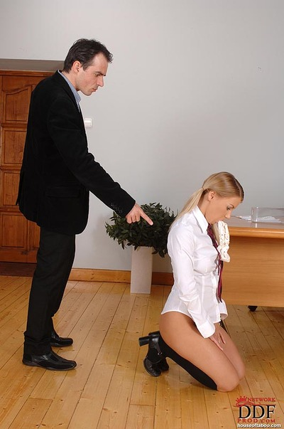 Lewd dear purchases spanked and penetrated in the arse with a penis stimulator