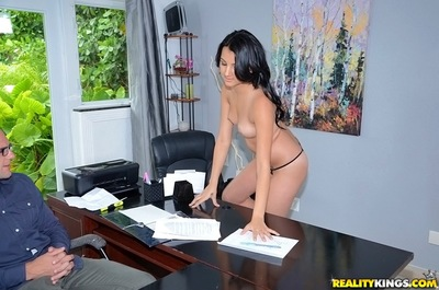 Lusty office teen attains her smooth on top cum-hole licked and screwed hard