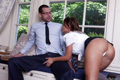 Charming european schoolgirl seduces her patriarch and acquires owned two way sex