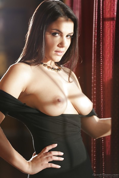 Wild dark brown princess Valentina Nappi flaunting superior all normal whoppers