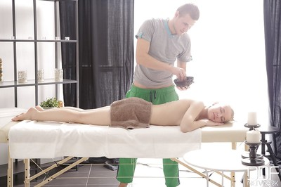 Fairy European young Olivia Grace gains hardcore very right after massage