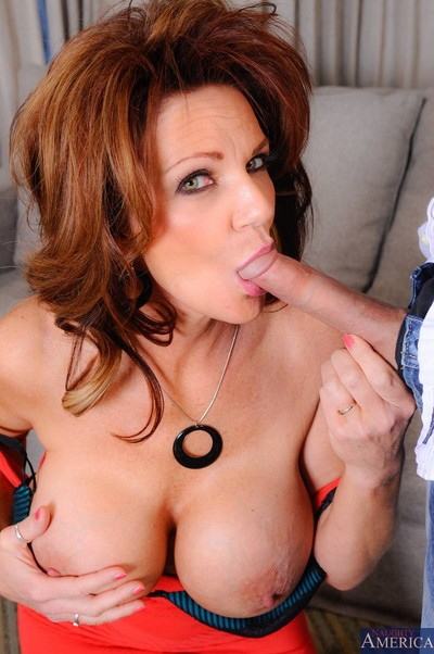 Excited titted milf getting astonishingly delight