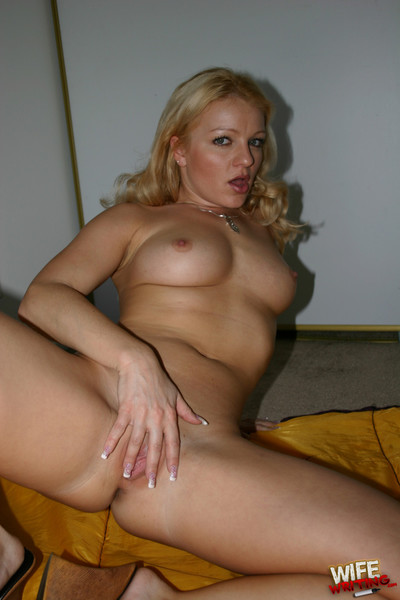 Unfaithfull fairy-haired wife with eager body obtains a massive ebony stick