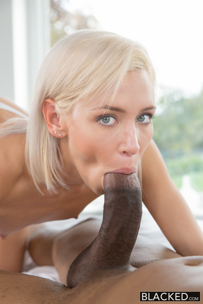 Preppy golden-haired girlfriend cheats with bbc