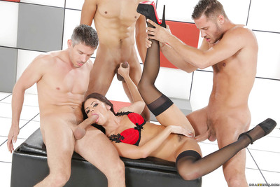 Keen group sex act with dick-swallowing cunt milf Adriana Chechik