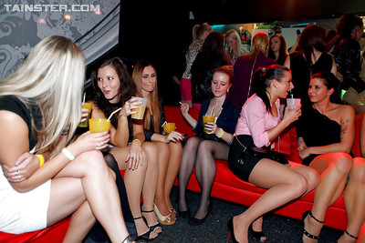 Desirable cuties getting appealing in woman-on-woman type at the drunk gathering