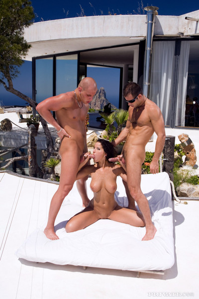 Model darkish team-banged in ibiza sexual act all together
