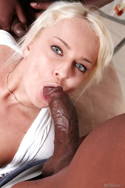 Russian blond Ivana Sugar bonks with gang of swarthy vast prides