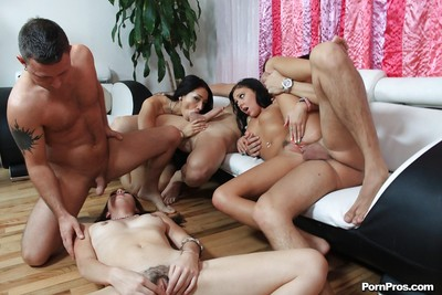 Chinese girl Ivy Winters has groupsex with hairy pouch licking and bukkake