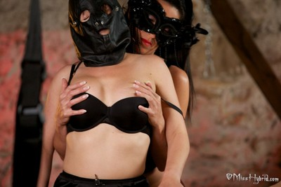 2 slaves in the dungeon, used and exploited