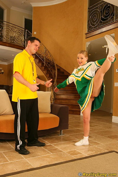 Getting busy with a slutty redhead cheerleader