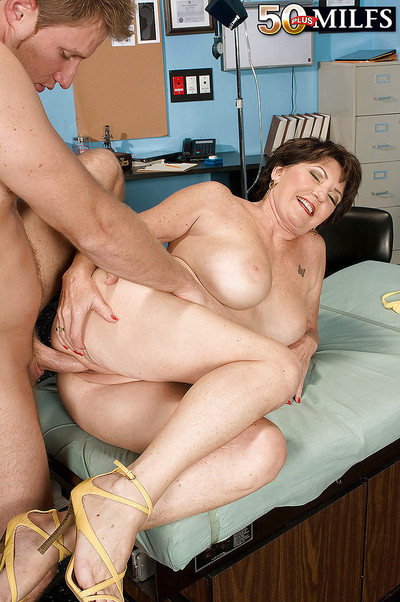 Ripe bbw Bea Cummings receives her juggs examined and dug in the hospital