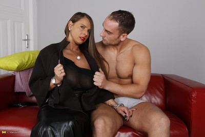 Large breasted german mamacita playing with the boy next door