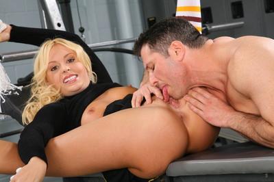 Sweaty blond cheerleader getting dicked