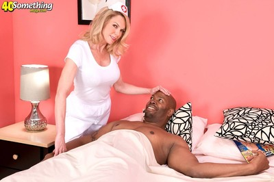 Passionate milf nurse likes colossal brown jocks