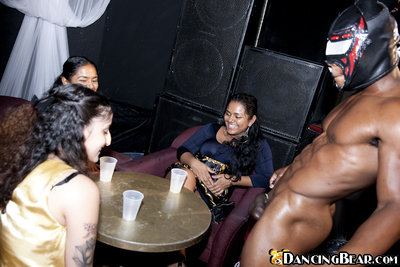 Black girls do blowjobs and handjobs during the time that partying intense with strippers