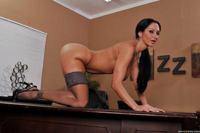 MILF hottie with vast marangos Ava Addams widening legs in office stripped