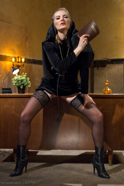 In her 1st unleash ever, audrey noir plays a curious virgin nun in drilling who