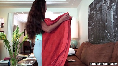 Broke woman servant sofia rivera makes some added specie