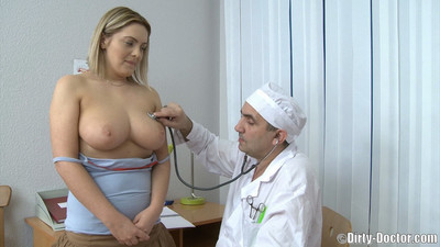 Dumb bulky blondie from czech owned by experienced doc