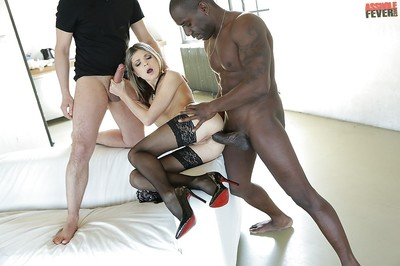Alluring fairy young Doris Ivy having her anus invaded by BBC