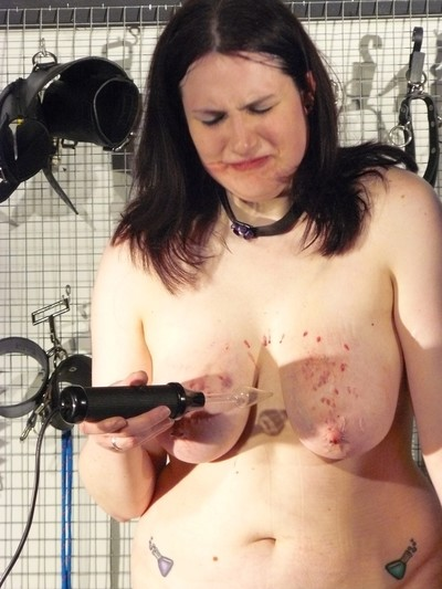 Bbw slaves electro torment and huge mounds bruising by unforgiving femdom