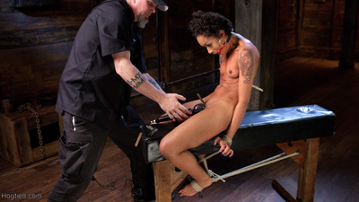 Wild ebon servitude doxy is unwell in strict servitude and suffers to deserve peak of pleasure