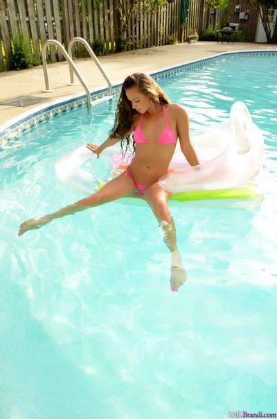 Untamed brandi olsen moist sticky pink bikini swim
