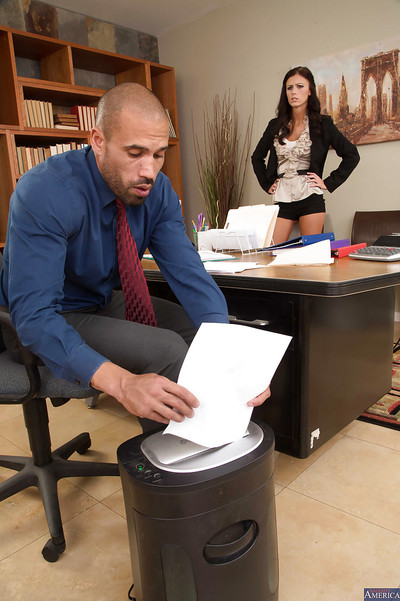 Anal drilling scene in the office features R/L brunette hair Whitney Westgate