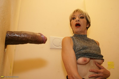 Slutty grown courtesan swallowing stick throughout a break