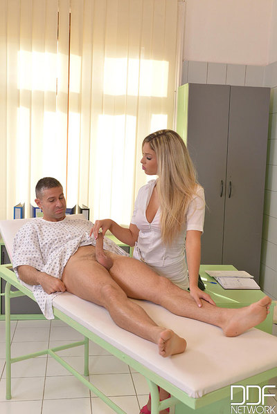 Fairy-haired European nurse Eva Parcker charming hardcore ass-drilling in uniform