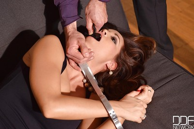 Pervy babe Satin Bloom is mandatory to obey her Fuck and play slavemaster and blow dong