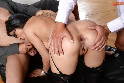 Alluring secretary Julia D Lucia giving fellatio despite the fact getting bonked
