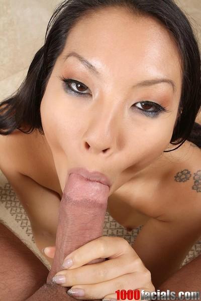 Japanese pornstar asa akira eagerly takes a facial