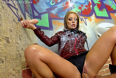Leony Aprill enjoys non as mother gave birth sexual act mixed with vulgar and grimy gloryhole activity