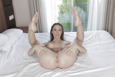 Enormous tit pretty Chanel Preston modelling her sticky body in a bikini