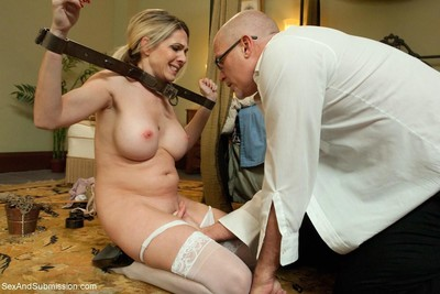 Hot model receives fixed up, dominated and severe drilled in subjugation