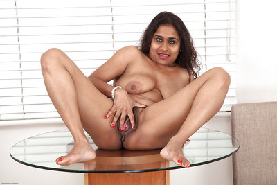 Fatty indian placid lassie with saggy milk shakes and  gash posing stripped