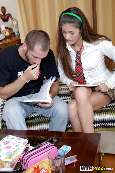 Slippy schoolgirl is much greater magnitude interested in tough ass pounding than lessons