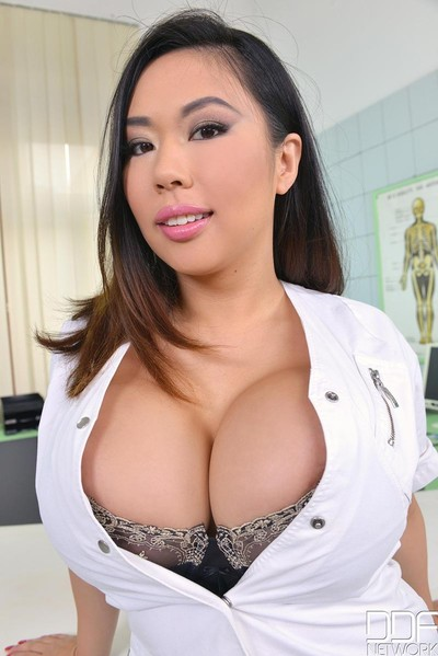 Boobsy Japanese nurse obtains 2 teamed at plow up