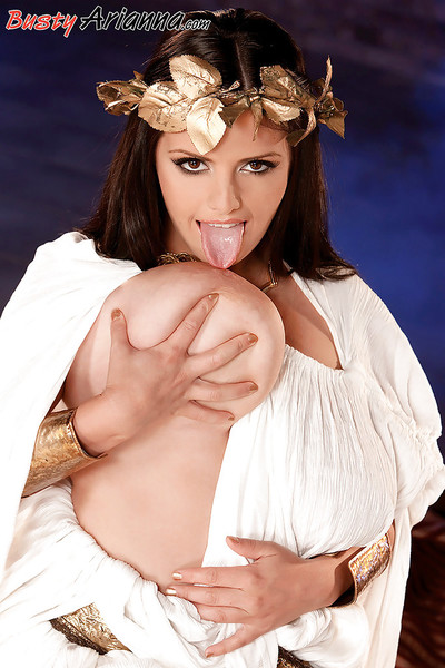 European cosplay enthusiast Arianna Sinn unleashes hard mangos for boob button have fun