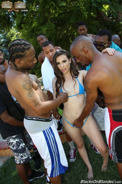 Casey calvert in an interracial groupie