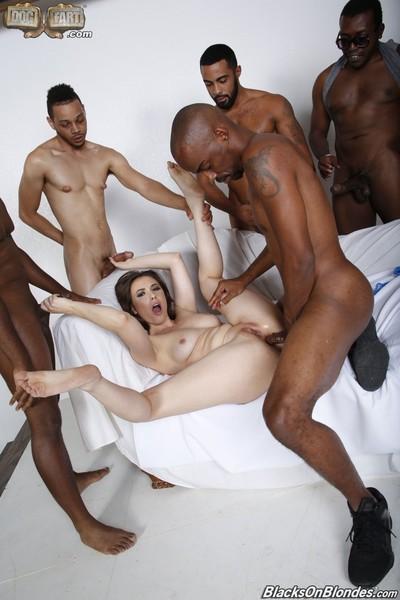 Casey calvert in an interracial groupie