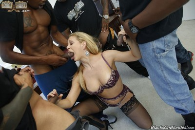 Hungry milf cherie deville obtains group-fucked