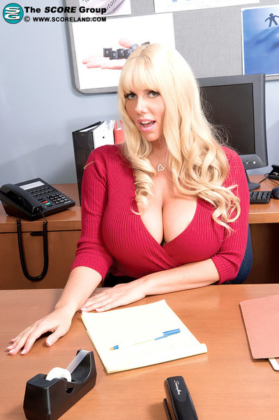 Biggest pantoons fairy secretary karen fisher rubs and drills ramrod in of