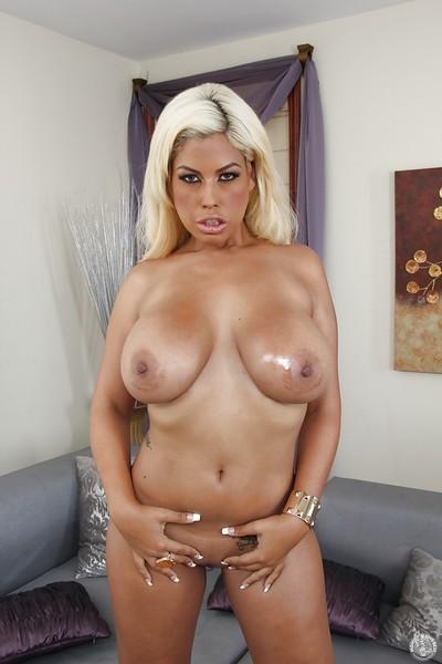 Latina chicito milf gal Bridgette B shows off in her hot underware