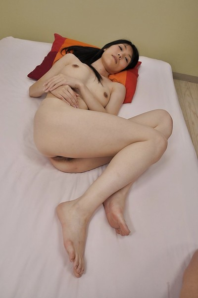 Slippy oriental MILF Yuko Mukai erotic dancing down and toying her unshaved gash